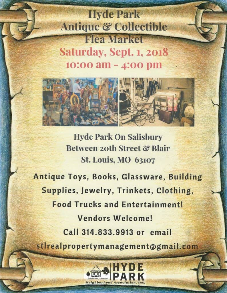 Hyde Park Antique Fair Flyer August 2018